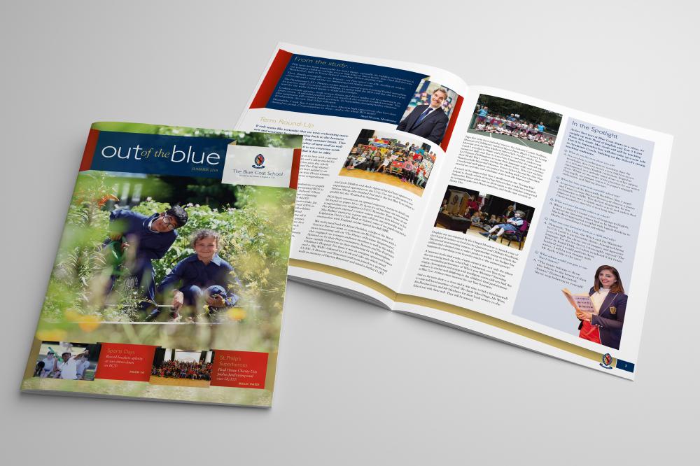 BLUECOAT SCHOOL NEWSLETTER, MAGAZINE DESIGN