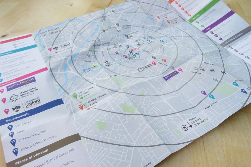 INTO MANCHESTER. CITY CENTRE MAP