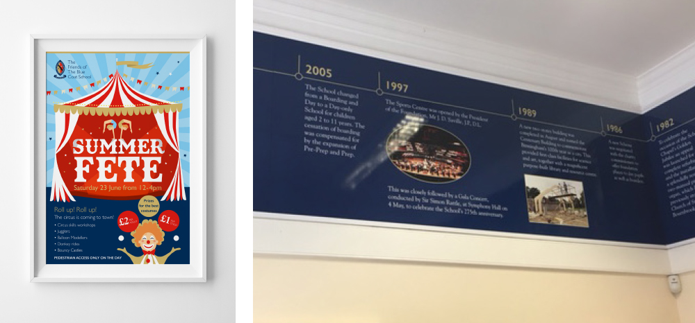 BLUECOAT SUMMER POSTER AND TIMELINE