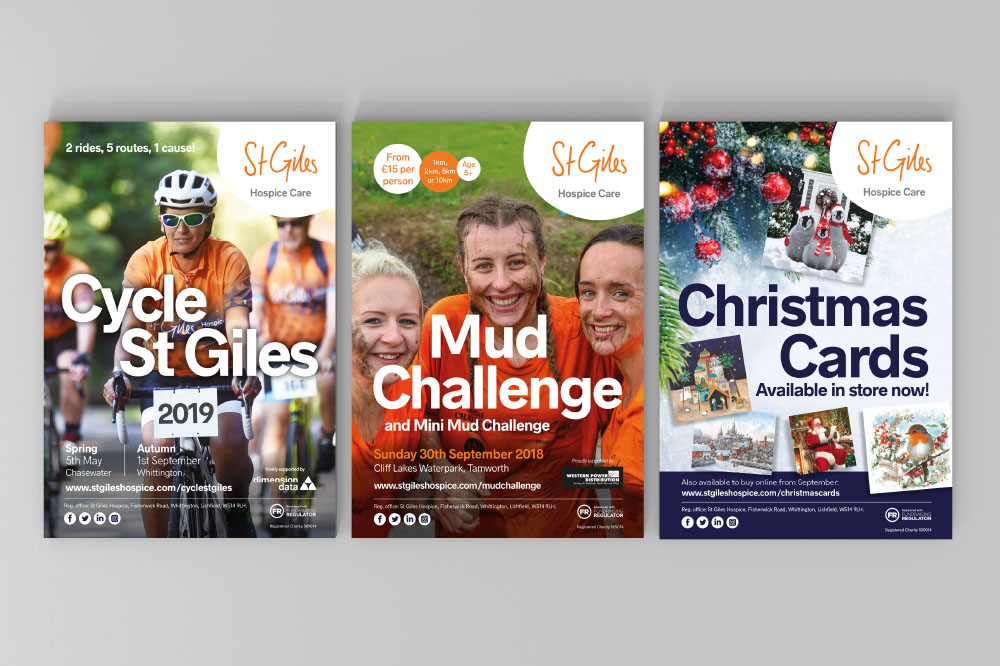 St Giles Hospice posters