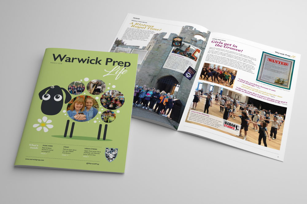 WARWICK PREP LIFE, SCHOOL MAGAZINE, NEWSLETTER DESIGN