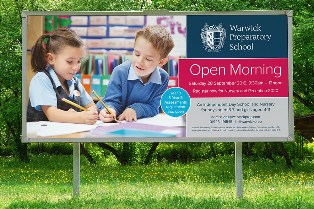WARWICK PREP SCHOOL BILLBOARD ADVERTISING